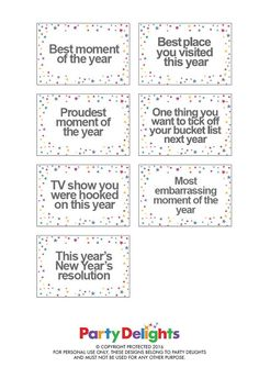 free printable new years eve party game