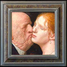 by Kenne Grégoire. Suikeroom - acryl op paneel - 32 x 32 cm - 2010