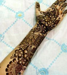 Bridal Henna Designs | Bridal Mehndi Designs For Hands – Mehndi is a traditional hand ...