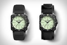 Bell & Ross Diver Full Lum Bell Ross, Time Design, Web Magazine, Luxury Watches For Men, Swiss Army, Black Rubber, Men's Watches, Matte Black