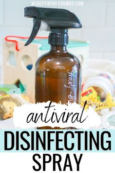 Powerful & antiviral natural disinfectant spray re Homemade Cleaning Products, Cleaning Recipes, House Cleaning Tips, Natural Cleaning Products, Cleaning Hacks, Cleaning Items, Cleaning Materials, Natural Products, Natural Disinfectant