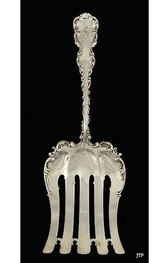 Whiting 'Louis XV' Sterling Asparagus Server c1891