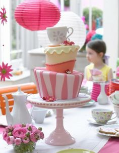 A perfect birthday tea party. I think I love this.