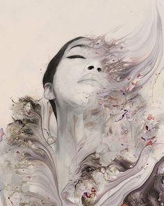 Such a wonderful piece by Januz Miralles ( A Level Art Themes, A Level Art Sketchbook, Mental Health Art, Wow Art, Portrait Art, Portraits, Figurative Art, Art Day, Art Sketches