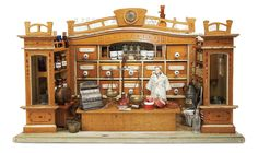 De Kleine Wereld Museum of Lier: 103 Rare German Wooden Apothecary Shop by Moritz Gottschalk