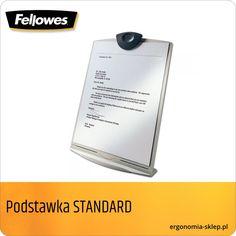 Rozkładana, łatwa do przechowywania w szufladzie lub kieszeni torby na notebook. Do dokumentów A4. Regulowany kąt ustawienia (6 pozycji). Posiada certyfikat FIRA. POLECAMY!