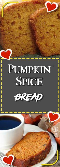 Pumpkin Spice Bread #comfortfood #dinnerrecipes #foodlover #dinner #dinnertime #easydinner