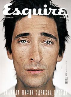 Russian Esquire Cover.  Adrien Brody.