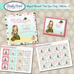 Magical Mermaid Birthday Party Package by SimplySweetParties, $30.00