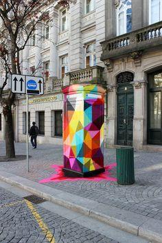 Street art – Les dernières créations de Okuda http://www.ufunk.net/artistes/okuda-street-art/