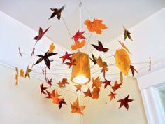 Autumn Leaf Lamp