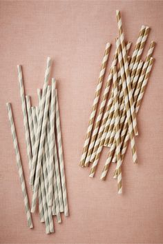 Metallic Swirl Straws (25) from BHLDN
