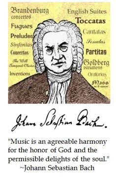 Bach on music.
