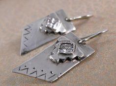 Fine Silver Aztec Earrings   WestWindCreations - Jewelry on ArtFire