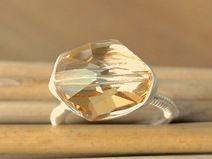 Wrapped Ring mit Swarovski-Elements-Stein #038
