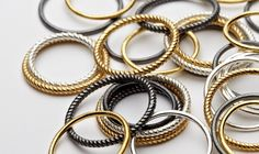 Pernille Corydon Twisted Ring Oxyderet