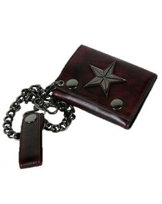 Leather chained wallet makes a little jingle in my step and security otherwise.