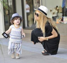 rachael zoe with Skyler her little boy, just in case