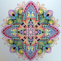 ColorIt Mandalas to Color Volume 1 Colorist: Betty Turcic #adultcoloring #coloringforadults #mandalas #mandala #coloringpages