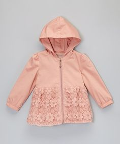 Pink Lace Daisy Coat - Toddler & Girls