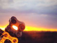 Mickey loves a #sunset #selfie #mickeyblueeyes #logotag