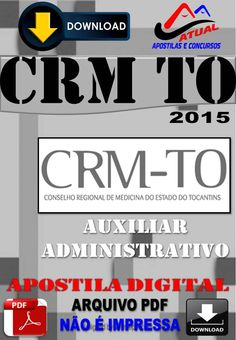 Apostila Concurso CRM TO Auxiliar Administrativo Apostila Digital