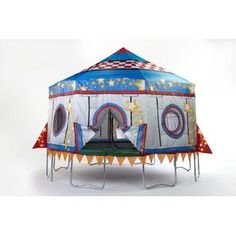 Circus Tent Trampoline Cover! I WANT!