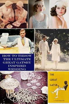 I'm pinning this for the link to the art deco guest book. We are not having a Gatsby themed wedding here. Much as I love the book, it doesn't seem like good luck to base you're wedding on a book where all of the married people are completely unhappy.