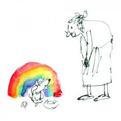 Send a Quentin Blake E-Card House Illustration, Illustration Artists, Quentin Blake Illustrations, E Greetings, Human Drawing, Rainbow Theme, Roald Dahl, Easy Watercolor, E Cards