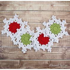 Snowflake Coasters ~ easy ~ FREE CROCHET pattern ~ this is week #11 of 12 weeks of Christmas CAL