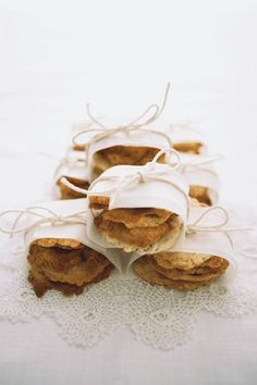 Mini wrapped biscuits