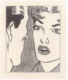 Roy Lichtenstein -Conversation (1962)