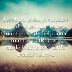 My strength comes from the LORD!