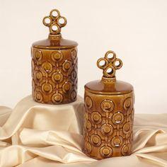 Howard Elliott Mocha Brown Textured Ceramic Jars Lids set of 2 Decor 18216 | lamp | lighting, furniture | accents, home decor | accessories, wall decor, patio | garden, Rugs, seasonal decor,garden decor,home decor & accessories