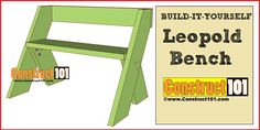 Quick and easy DIY project for an outdoor bench. Leopold bench plans include illustrations, measurements, and shopping list.