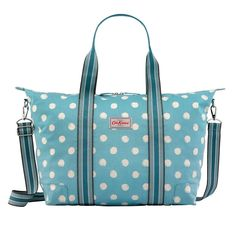 This Cath Kidston overnight bag has enough room for a change of clothes and space for all of your essentials, but also folds into its own little zipped pocket when surplus to requirements. Cath Kidston Overnight Bag, New England Prep, Kids Bags, Smudging, Diaper Bag, Gifts, Monograms, Essentials, Change