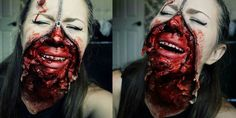 Picture of Zipper Face Halloween Makeup Tutorial