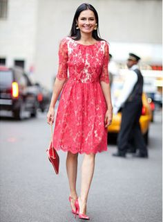 Pink Lace Wedding Guest Dress Another Doll On The Move Spring Street