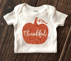 Thankful Thanksgiving Onesie