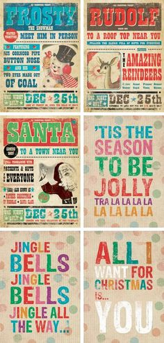 Retro Christmas Prints... My kids are so making these next year!