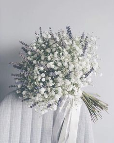 Hottest 7 Spring Wedding Flowers to Rock Your Big Day--baby breath and lavender wedding bouquets, spring wedding flowers, white and purple wedding colors White Wedding Flowers, Bridal Flowers, Flower Bouquet Wedding, Floral Wedding, Wedding Lavender, Baby's Breath Wedding Bouquet, Purple Wedding, Bouquet Flowers, Bridal Boquette