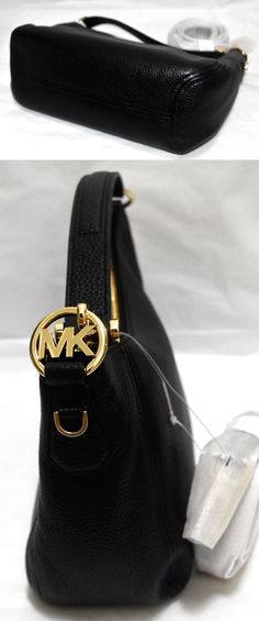 a189358fd8c3 MICHAEL KORS Fulton MD Convertible Shoulder Bag, Black Leather, Ships FREE  $148.0 Replica Handbags