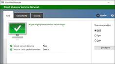 Windows Defender'ın ekran görüntüsü