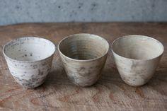 Rokuro cups, by Hisayo Kurohata, Japan.
