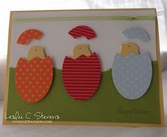 A really cute new way of looking at the build a bird punch from Stampin Up...making little baby chicks!