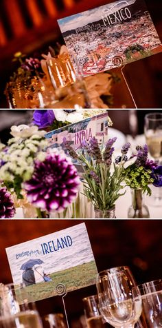 United States of Marriage / A passport for every guest with all the wedding details / Purple and lavander flowers / a Vera Wang Bride / a Jewish travel-themed barn wedding / at Olympia's Valley Estate, Petaluma, California, USA / Photography by Chrisman Studios / http://www.smashingtheglass.com/2016/08/02/vera-wang-bride-jewish-travel-themed-barn-wedding-olympias-valley-estate-petaluma-california-usa/