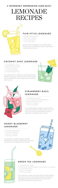 Save this for 5 easy Lemonade recipes you need in your life.