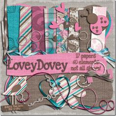 Lovey dovey #scrapbooking #digitalscrap #freebies