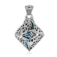 Bali Legacy Collection Abalone Shell Sterling Silver Pendant without Chain | pendants | jewelry | online-store | Shop LC