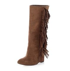 "MIA® ""Flirty"" Fringe Wedge Boot"